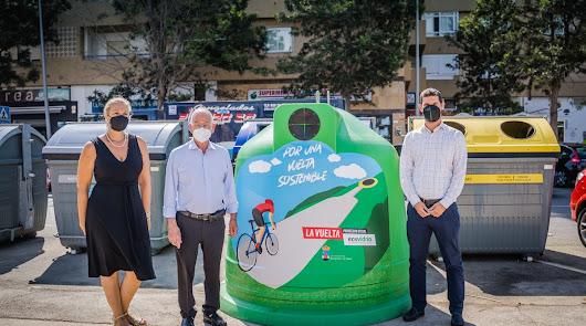 Roquetas de Mar y Ecovidrio promueven el reciclaje en la Vuelta a España