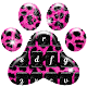 Pink and Black Cheetah Fur Keyboard Theme (app)