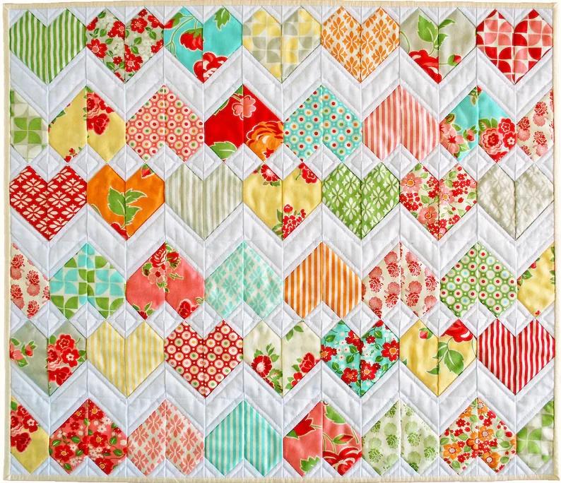 8. Zigzag Love Pattern