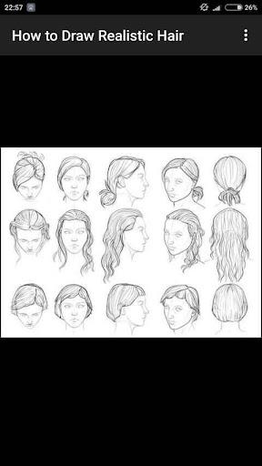 How to Draw Realistic Hair  screenshots 8