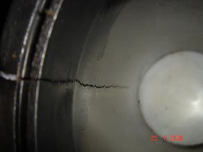 Photo: Takimmainen sylinteri halkesi kesken vedon