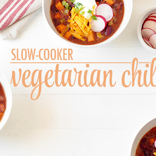 Slow-cooker Vegetarian Chili.