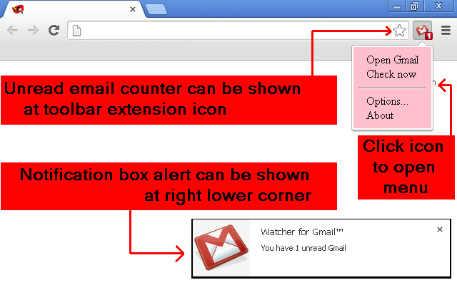 Watcher for Gmail™