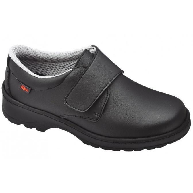 Zapato oscuro velcro antideslizante