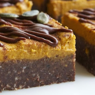 Raw Pumpkin Pie Brownies