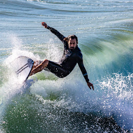 On It by Mark Ritter - Sports & Fitness Surfing ( surfer, surfing, oceanside, california, wave )