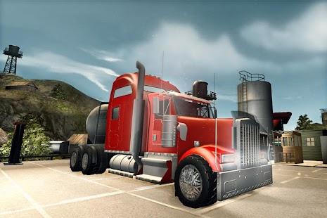 Oil Tanker Transport Hill - náhled