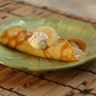 Crepes with Poached Pears Recipe