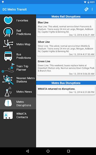 DC Metro Transit Info - Free screenshot 24