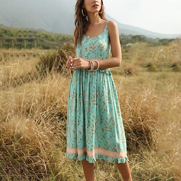 bohemian dresses untuk tampilan casual sehari-hari