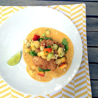 Panko-Crusted Fish Tacos with Kiwifruit Salsa