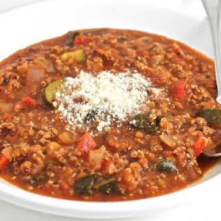 Super Healthy, Beef Vegetable Quinoa Stew.
