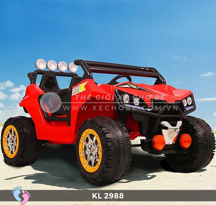 Xe ô tô điện đồ chơi trẻ em KL-2988 ghế da 11