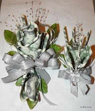 Photo: Corsage & boutinniere made with moneyroses