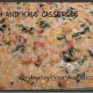 Rich and Creamy Ham and Kale Casserole.