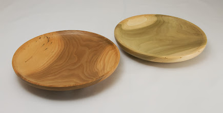 "Photo: Bob Browning 7"" x 1 1/2"" shallow bowls [poplar]"