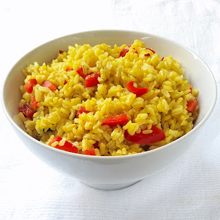Yellow Rice with Red Bell Peppers