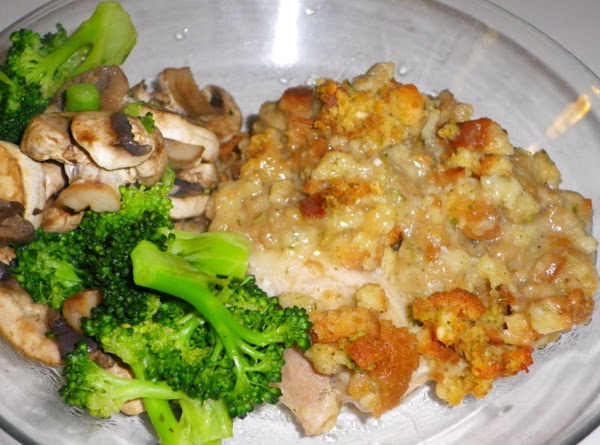 Chicken Thighs And Stuffing Bake Recipe