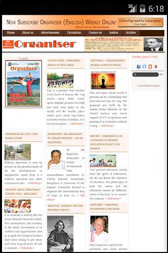 OrganiserNewspaper