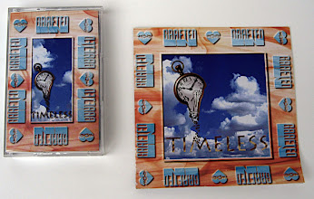 Photo: This is the album cover of a Contemporary Christian music group from Temecula/Murrieta. The melting stopwatch in front of the clouds was given to me by the previous Designer, but I designed and produced the rest of the artwork, including the Band's logo, the Production company's logo (Heart'sCore), and the art that was silkscreened onto the CD.