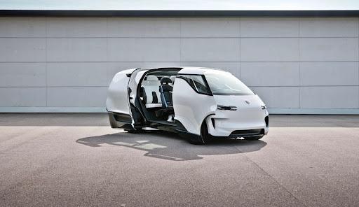 This Porsche electric van concept previews the future of autonomous driving Porsches