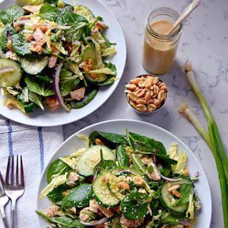 Supergreen Tuna Salad with Sesame Peanut Dressing.