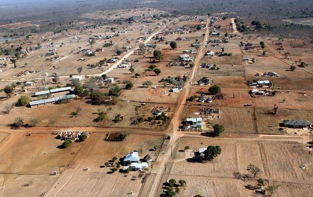 Protesting limpopo residents burn down another school birds eye view a general view of the outskirts of vuwani in limpopo sciox Image collections