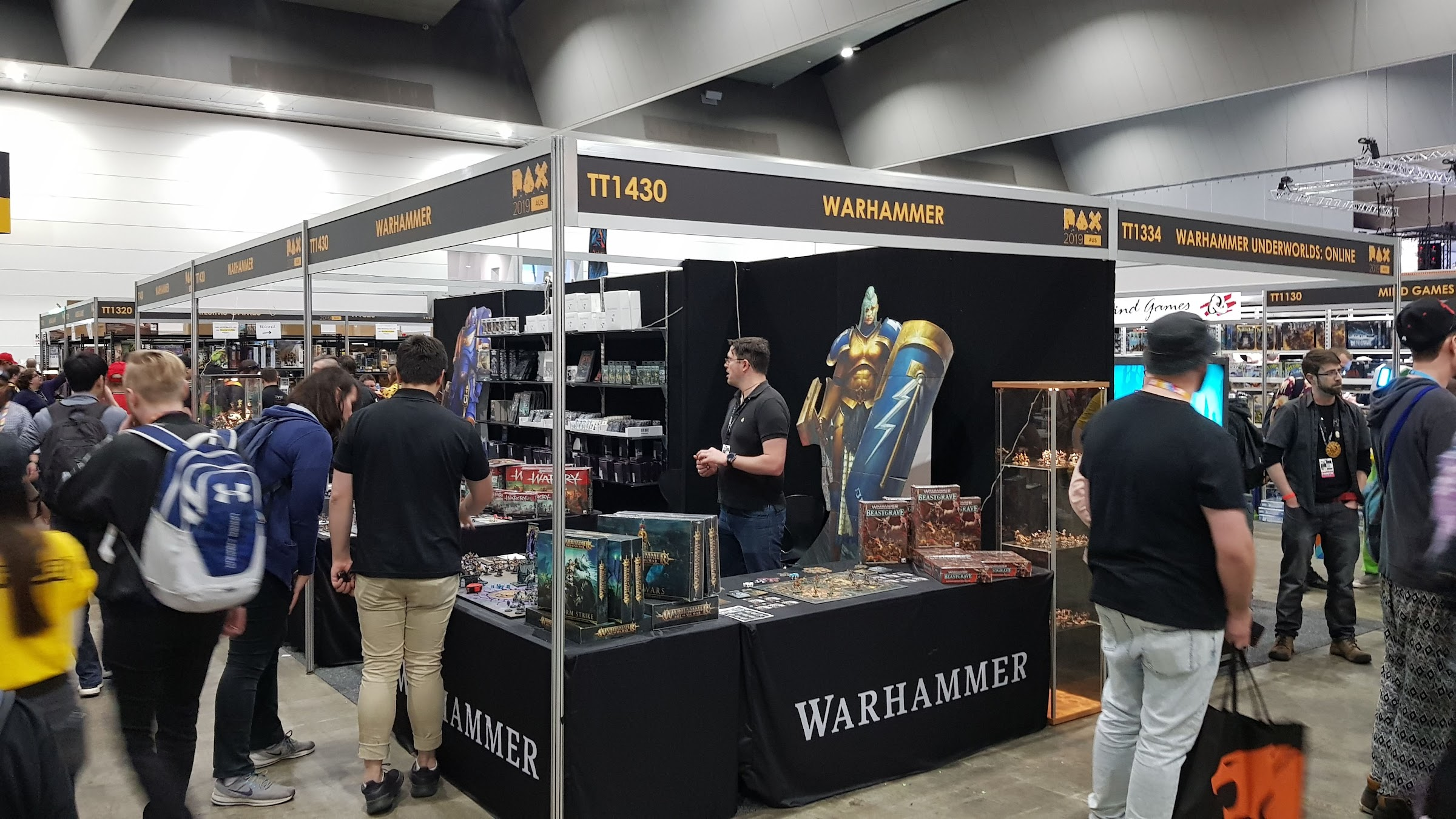 Warhammer stand at PAX 2019