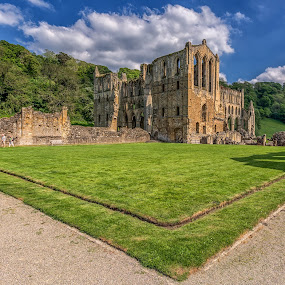 Rievaulx Abbey by Barry Smith - Buildings & Architecture Decaying & Abandoned ( abbey, decaying, buildings, abandoned, landscape )