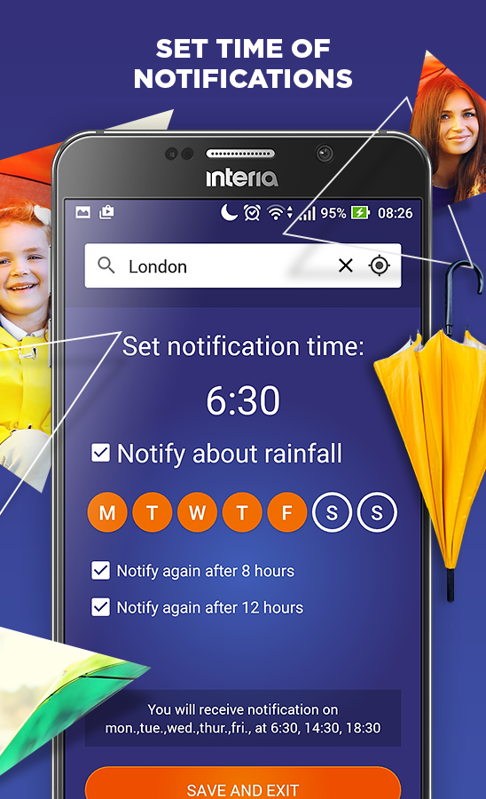 how to set up weather alerts on android