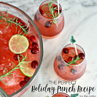 The Perfect Holiday Punch Recipe for the Entire Family.