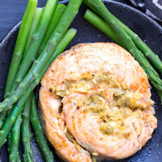 Broiled Salmon RouladeS Stuffed with Horseradish Mustard.