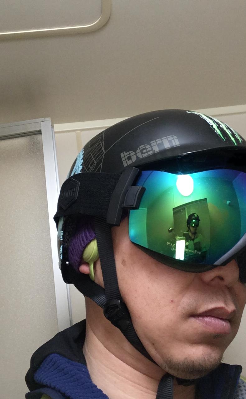 BONX Grip 装着図(ヘルメットにフィット)