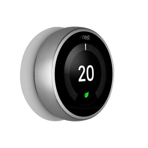 Side view of Nest Learning Thermostat, 3rd Generation