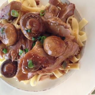 Sunday Dinner Pork Roast With Mushroom Gravy.