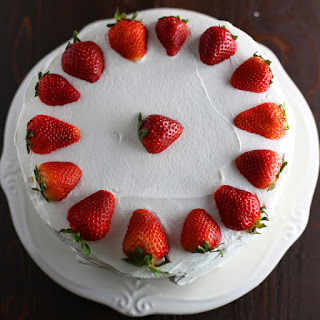 Strawberry Angel Food Cake.