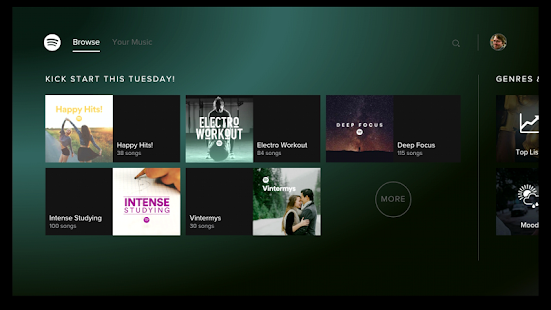 Spotify Music - for Android TV- screenshot thumbnail