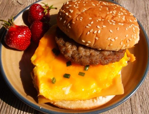 Sausage Egg & Cheese Super Breakfast Sandwich Recipe