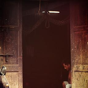 still drowsy  by Usman Irani - City,  Street & Park  Markets & Shops ( mumbai, shop, chor bazaar,  )