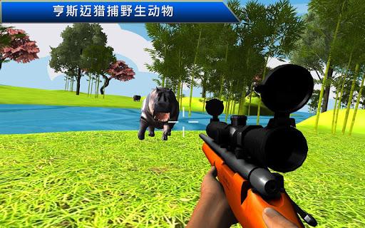 野生动物狩猎愤怒的狙击手