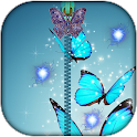 Butterfly Zip Screen Locker icon