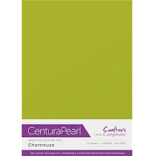 Crafters Companion Centura Pearl Card Pack A4 10Pkg 300gr - Chartreuse