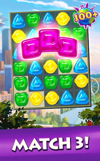 Gummy Drop! Match to restore and build cities ss2