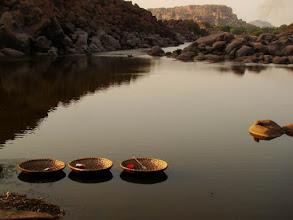 Photo: Inde-Hampi, Tungabhadra River