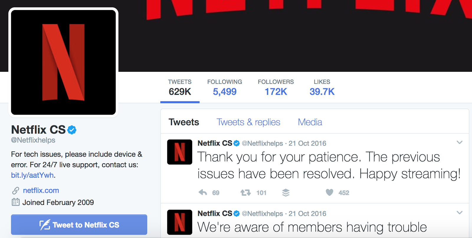 Netflix practices proactive communication