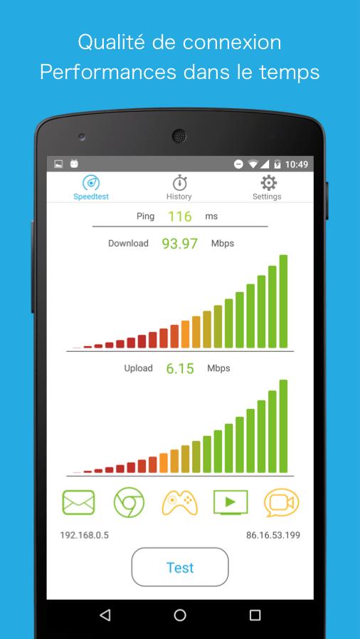 Simple Speed Test– Capture d'écran