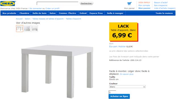 Table IKEA à customiser