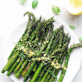 Quick Roasted Asparagus with Lemon and Basil Recipe