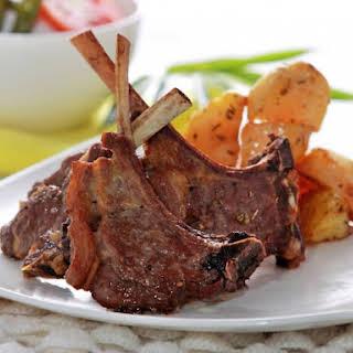 Rosemary Garlic Lamb Chops With Potatoes.