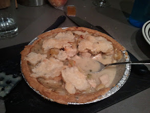 Photo: Chicken pot pie. Bottom crust is storebought, the rest was home made.